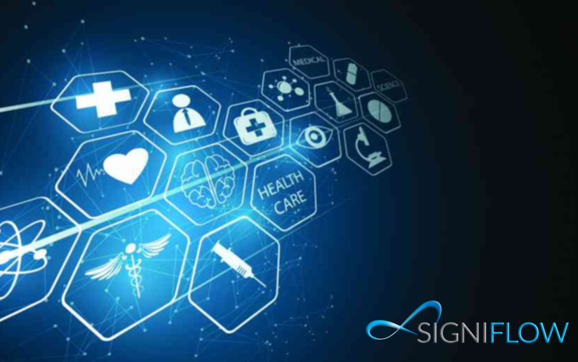 digitising healthcare with logo